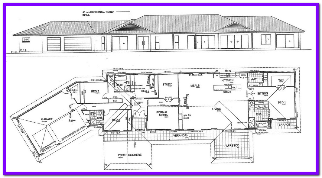 1065x589 House Construction Plans Scale Drawings