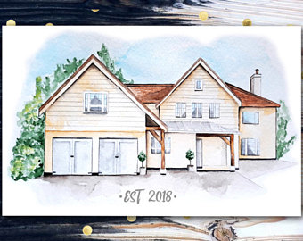 340x270 House drawing Etsy