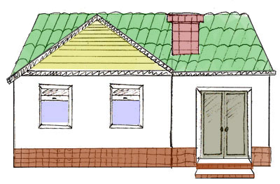 400x263 How to Draw a House