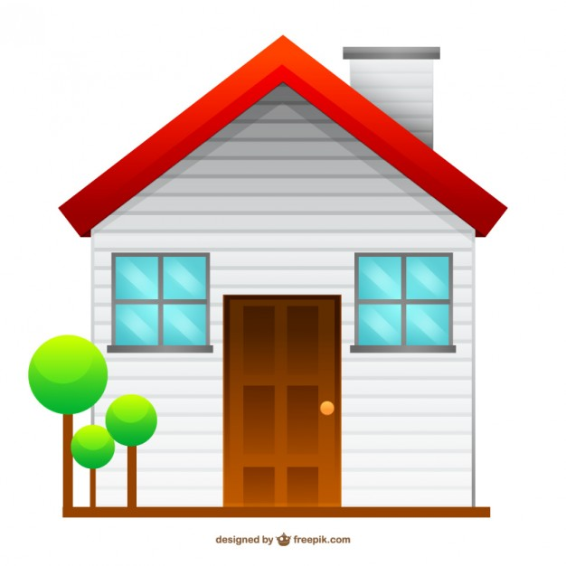 626x626 Isolated house drawing Vector Free Download
