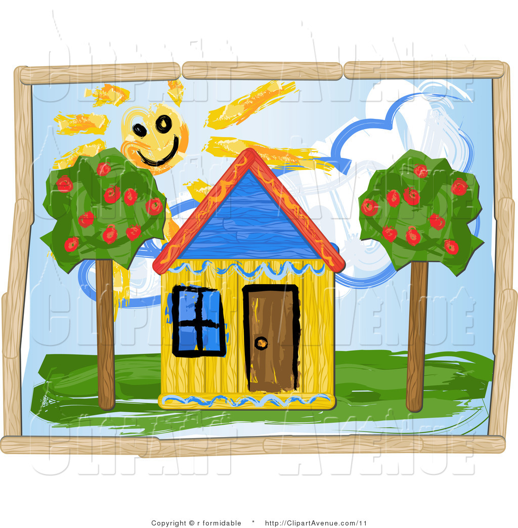 1024x1044venue Clipart Of Childrens Drawing Of Sun Shining Over