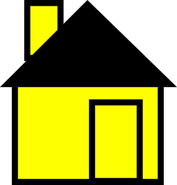 570x597 Simple House Yellow Clip Art