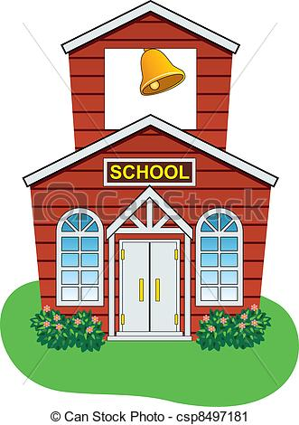 331x470 Vector Country School House. Vector Illustration Of Country