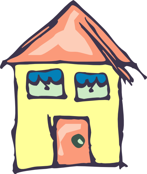 504x598 Yellow House Drawing Clip Art