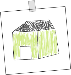 271x289 House Drawing Clip Art