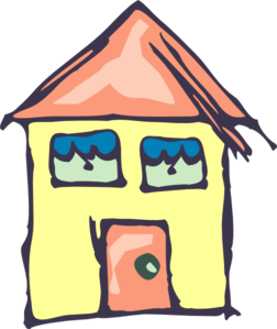 252x299 Yellow House Drawing Clip Art