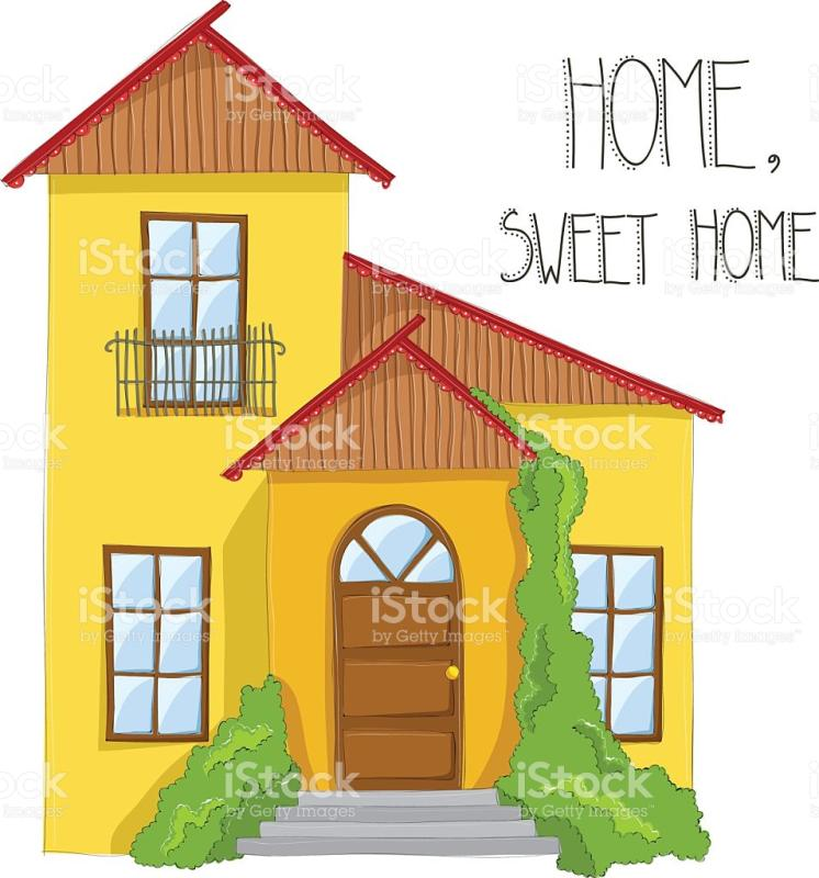 746x800 House Drawing Clipart