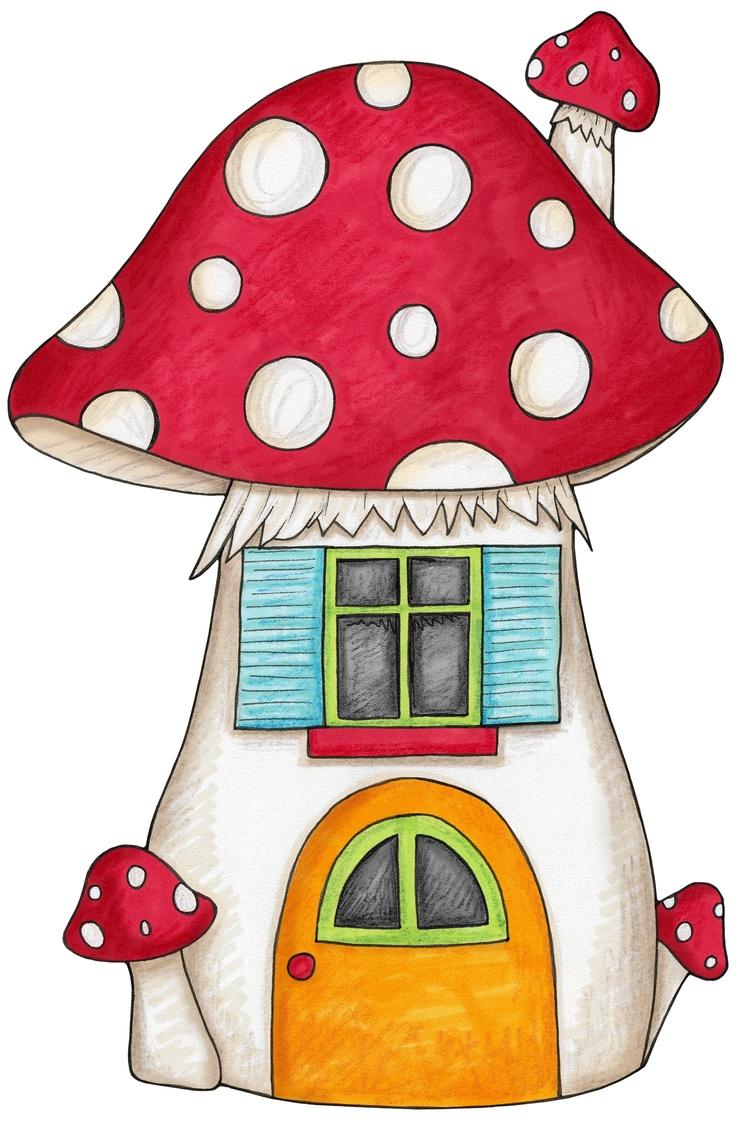736x1121 Mushroom House Drawing