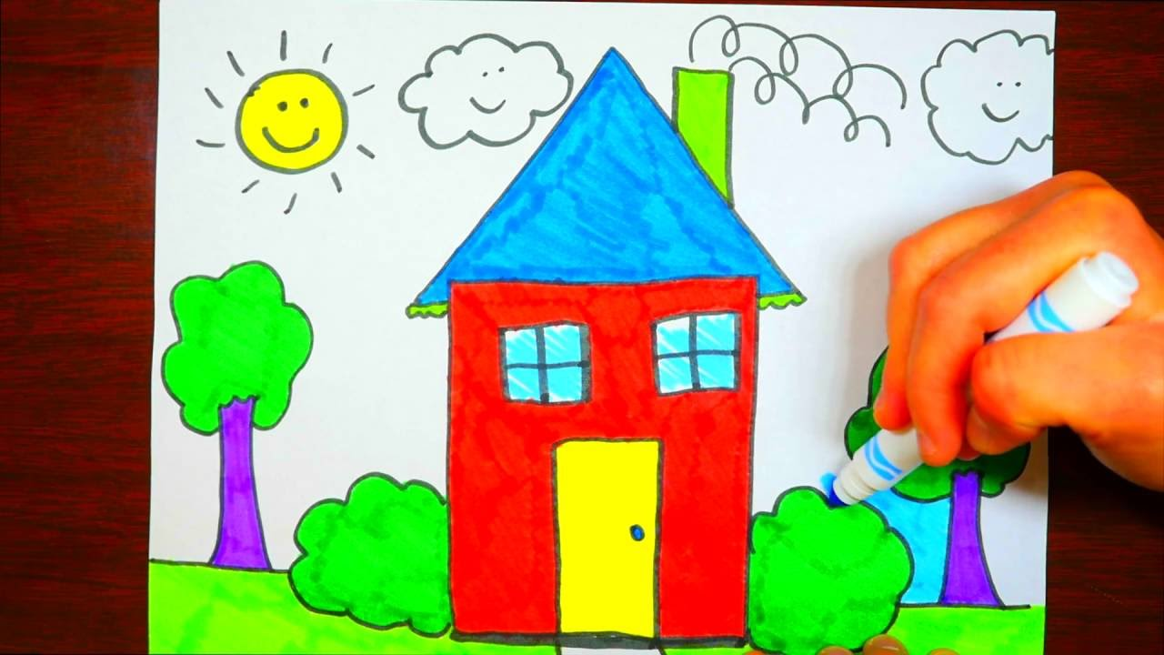 1280x720 For Kids How To Draw A House