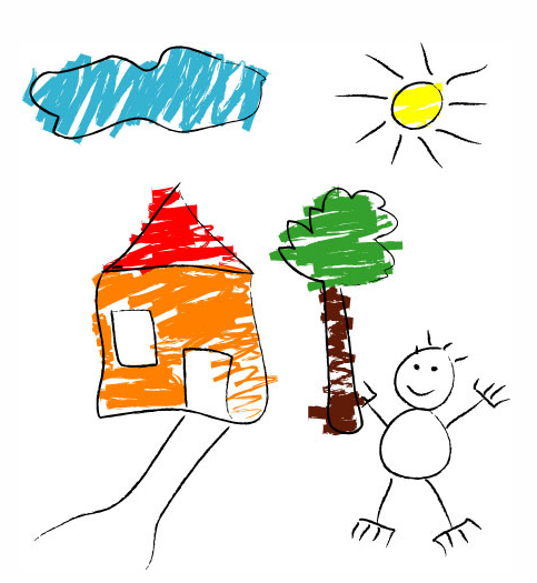 483x525 House Drawing For Kids It Should Be The Place Where Kids