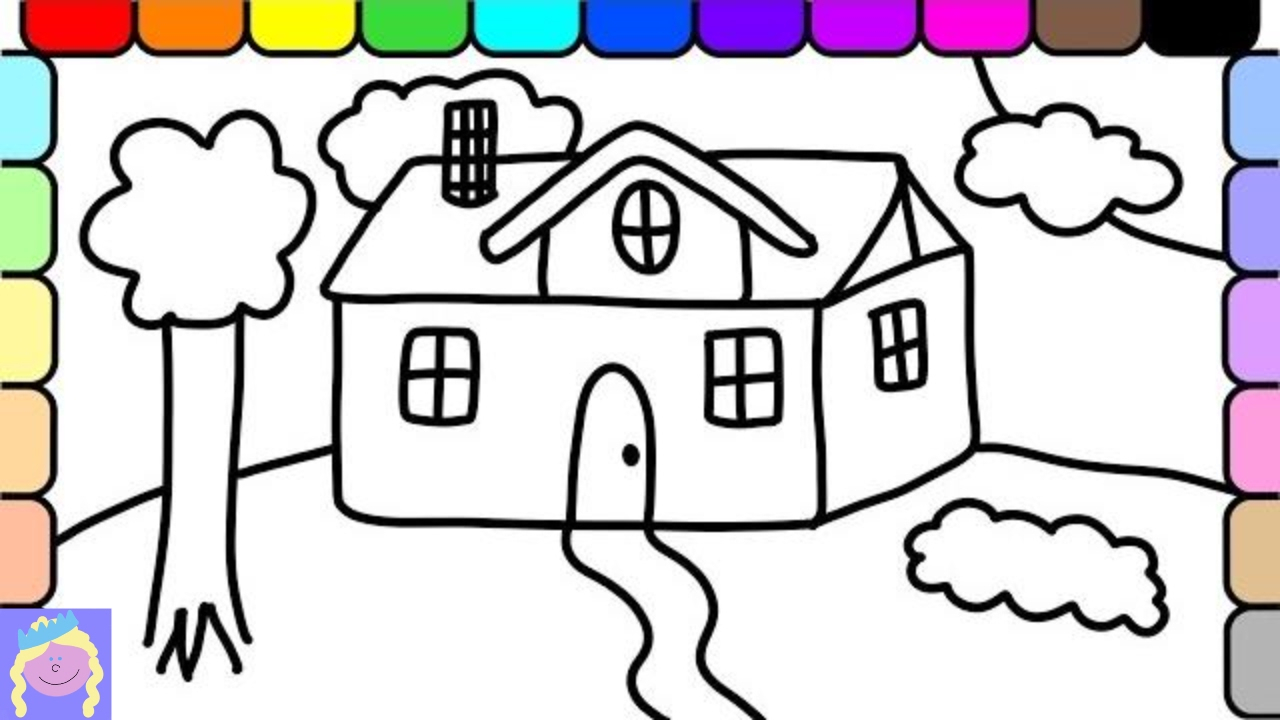 1280x720 House Drawings For Kids To Color Learn How To Drawnd Color