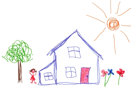 448x300 When They Are Small, All Children Draw A House The Same. Because