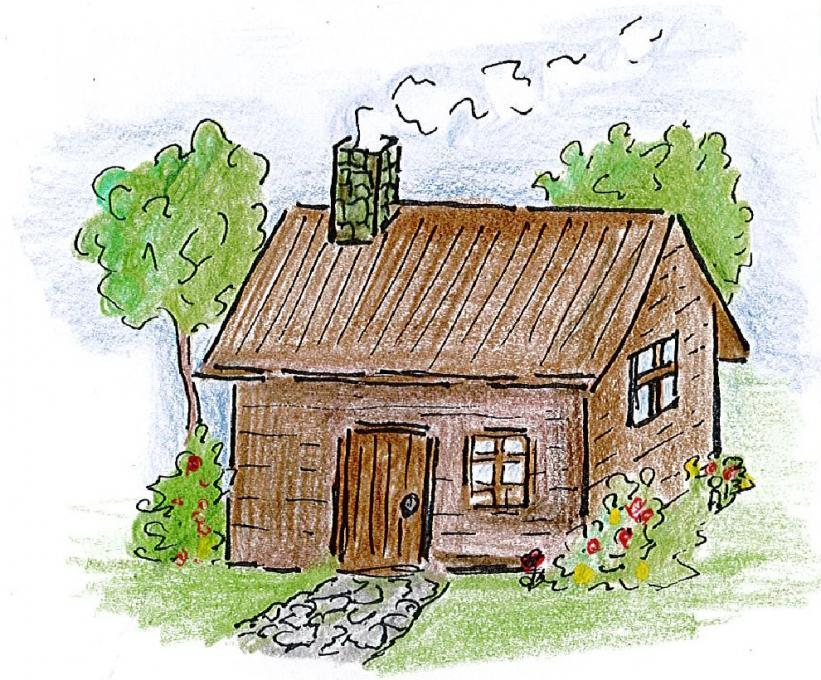 821x680 Farmers House. My Country. Drawings. Pictures. Drawings Ideas