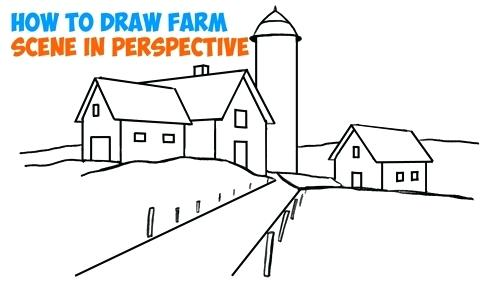 500x291 Easy House Drawing How To Draw House On Stilts How To Draw