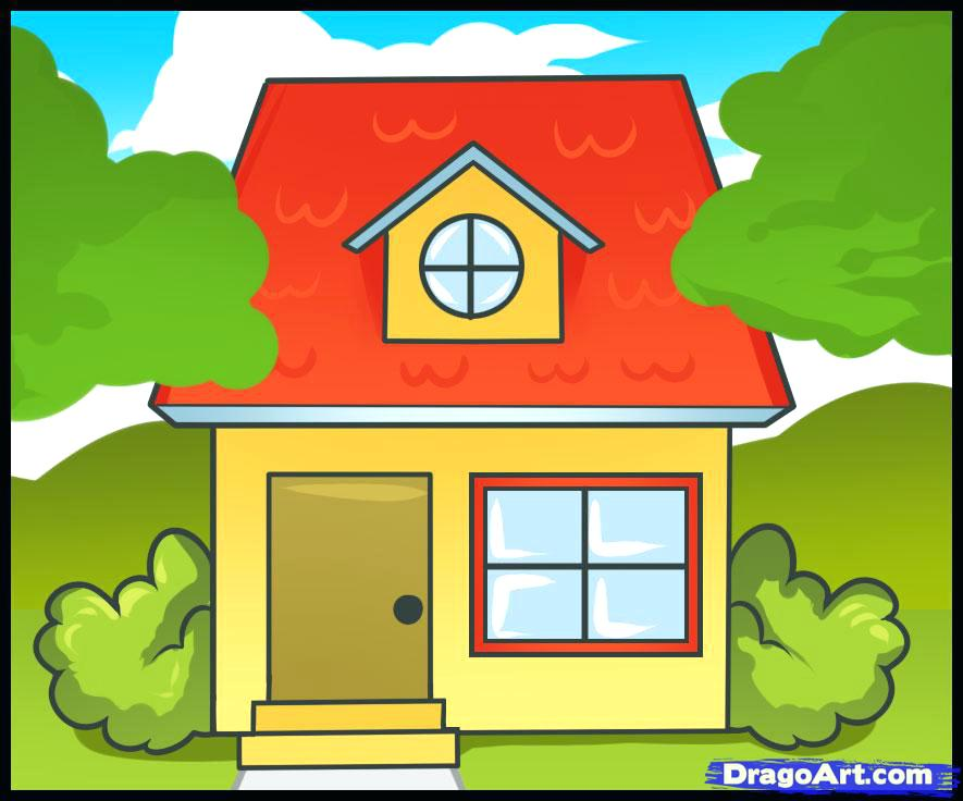 885x736 House Drawing Pics For House Drawing Simple House Drawing Pics