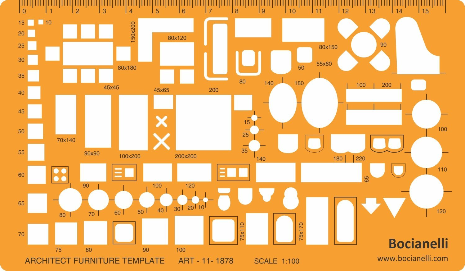 1499x872 1100 Scale Architectural Drawing Template Stencil