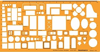 425x220 Isomars 150 Scale Architectural Drawing Template Stencil