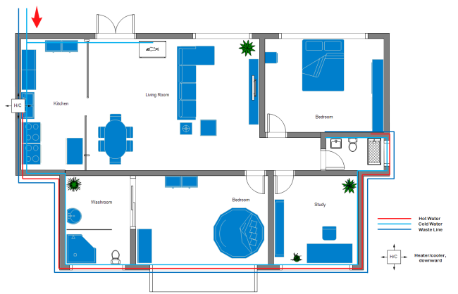 650x418 Plumbing And Piping Plan Software