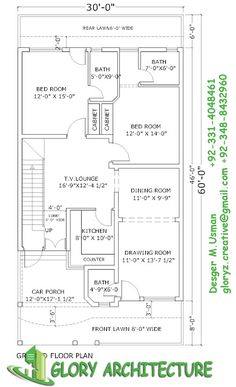 236x387 30x60 House Plan,elevation,3d View, Drawings, Pakistan House Plan