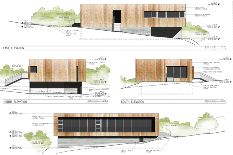 750x500 Architectural Elevation Drawings
