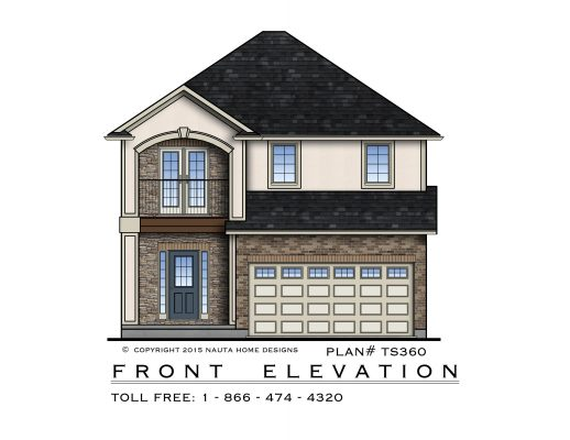 518x400 Coloured Front Elevation Drawing Nauta Home Designs