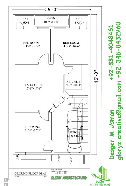 436x640 Pin By Muhammad Usman On 25x45 House Plan Elevation Drawings Map