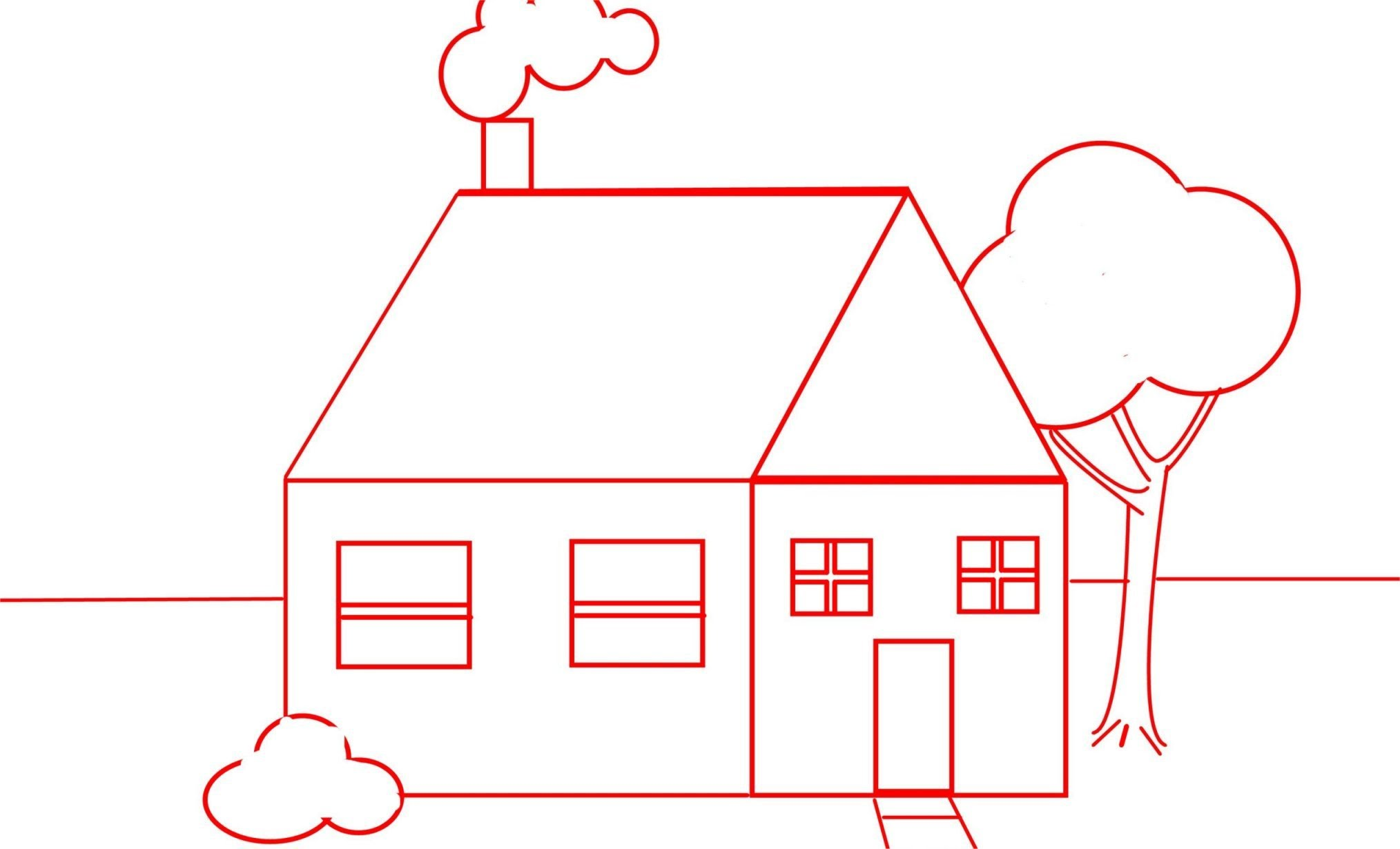 2028x1230 Draw A House For Kids And Beginners