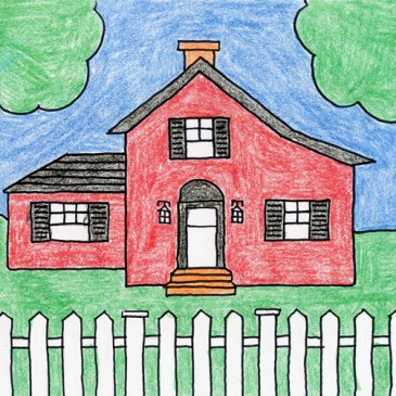 365x365 Draw And Paint A Tulip Country Houses, Drawings And Drawing Ideas