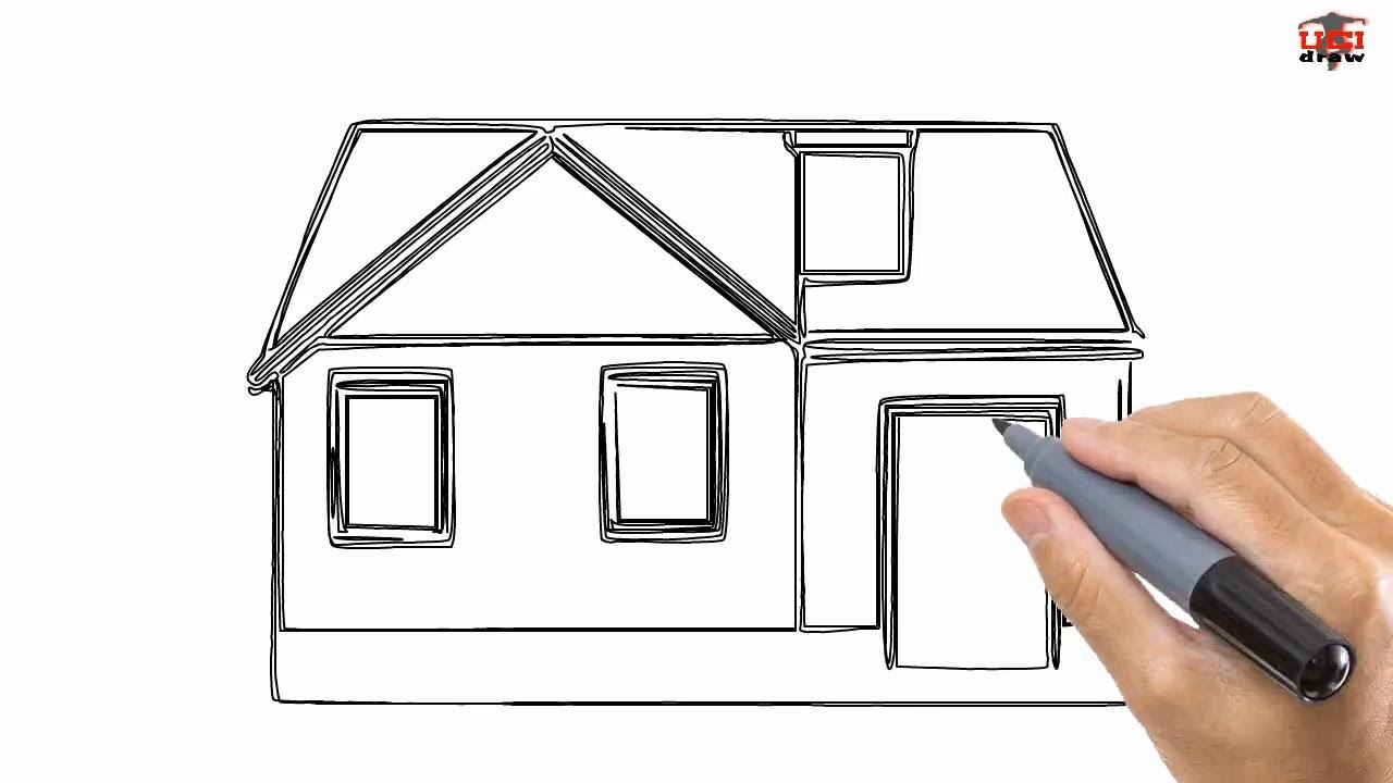1280x720 How To Draw A House Easy Drawing Step By Step Tutorials For Kids