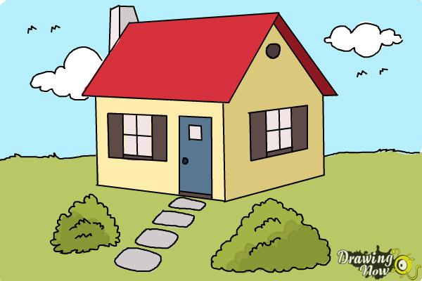 600x400 How To Draw A House Step By Step