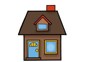 300x200 How To Draw A House For Kids