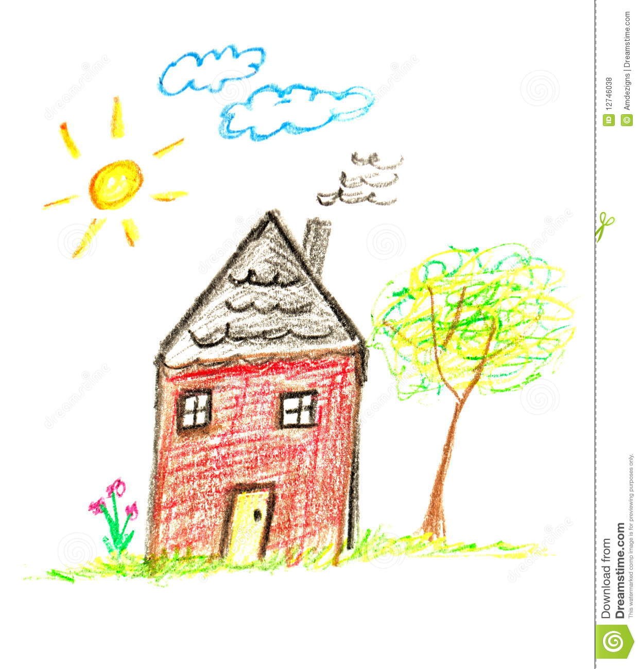 1245x1300 Photos Kids Drawing Of A House,