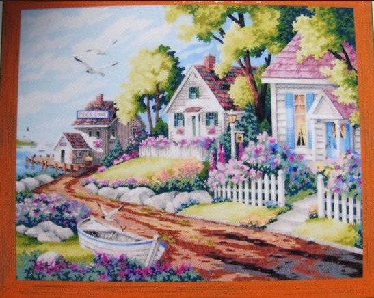 547x436 Free Shipping Diy House Oil Painting Drawing By Number Paint Tool