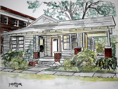 400x301 Watercolor House Paintings And Drawings