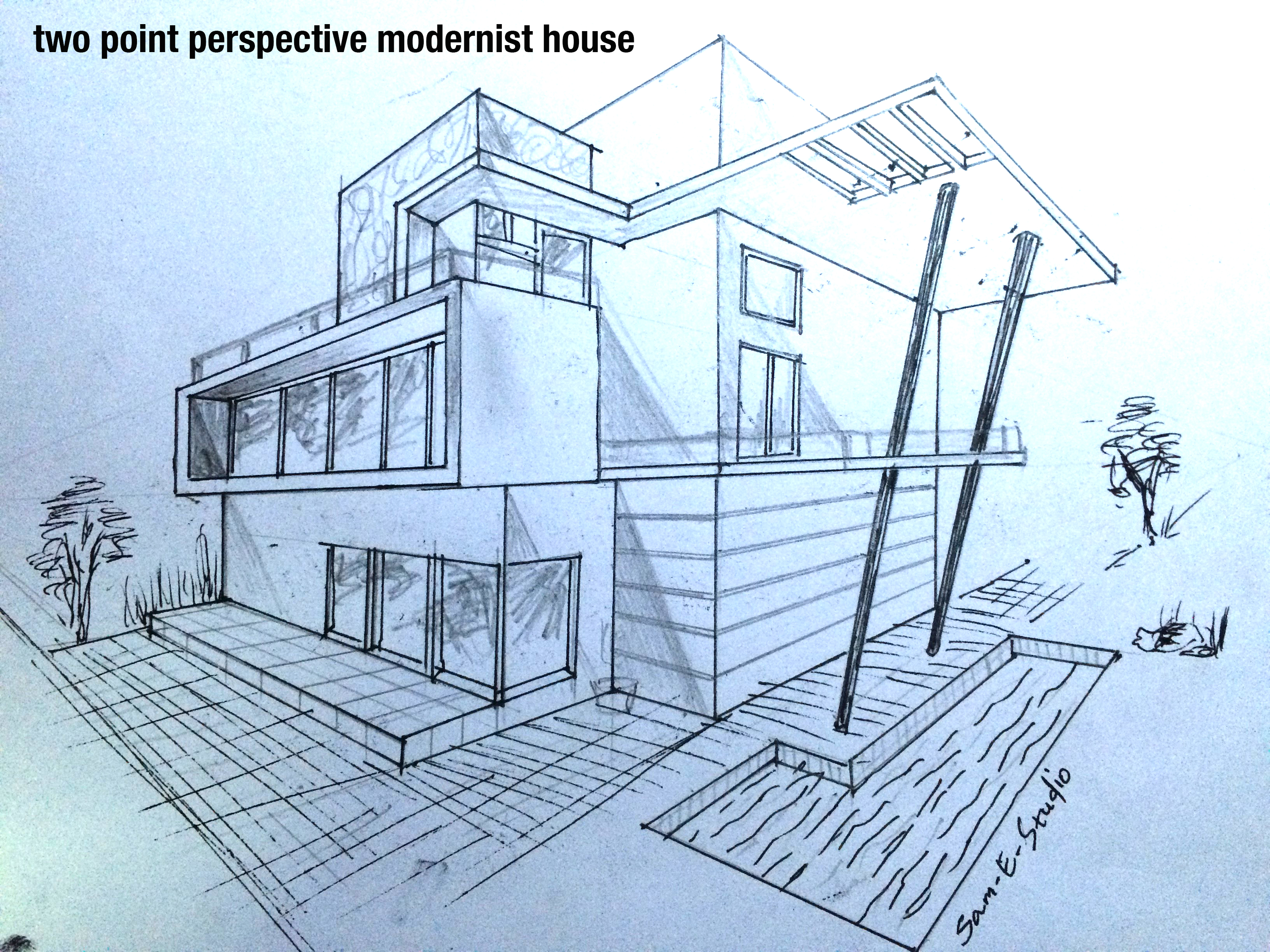 House Perspective Drawing at GetDrawings.com | Free for personal use ...