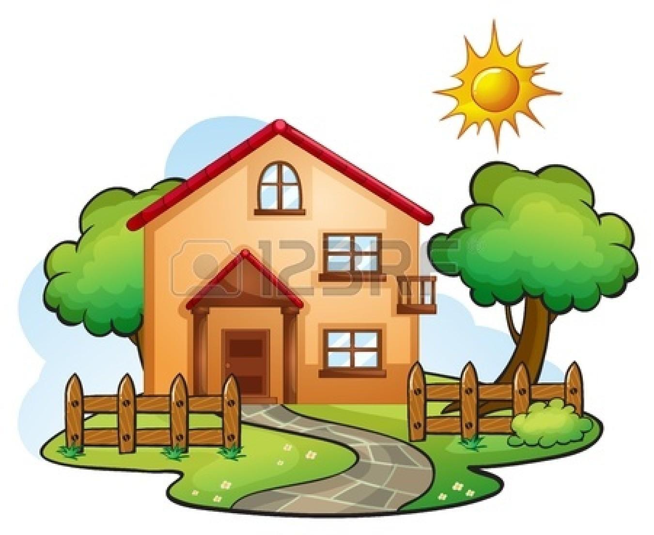 1350x1104 House Cartoon