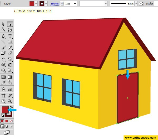 600x533 learn how to create a 3d house vector in illustrator entheos - Drawing For Home
