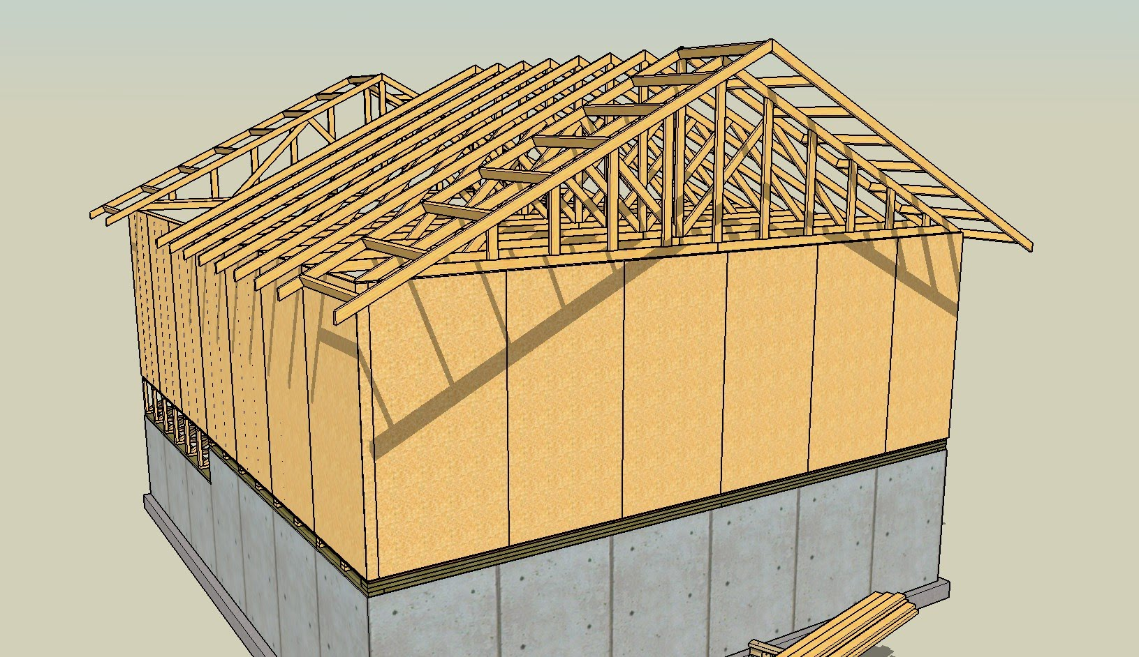 1631x942 Drawing Lumber With Sketchup Series Part 8 How To Draw Roof