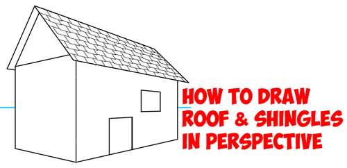 500x242 How To Draw A Roof And Shingles With Two Point Perspective