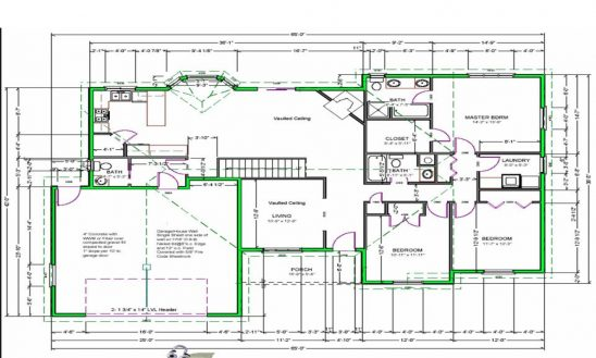 548x329 House Drawing House Plans