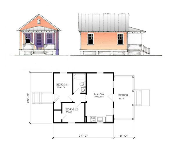 600x485 Katrina Cottage House Plans Plans Not To Scale. Drawings Are