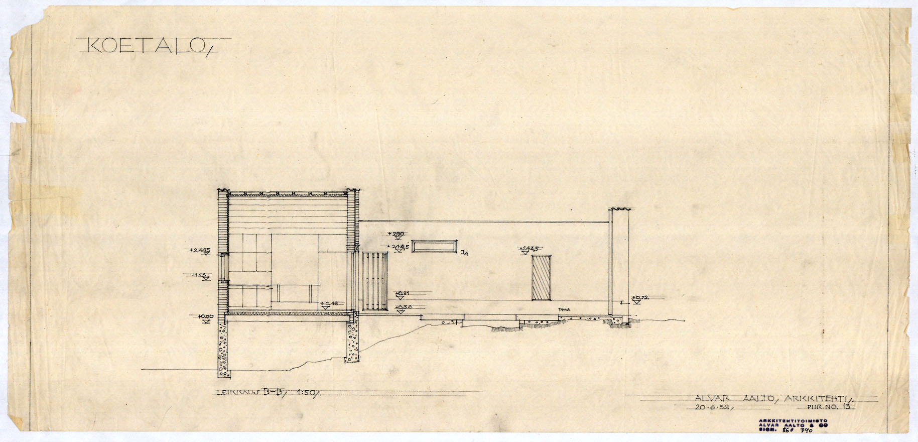 1829x880 Architectural Drawings Of The Muuratsalo Experimental House