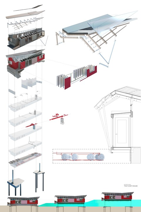480x720 Float House Section Drawings Morphosis Architects