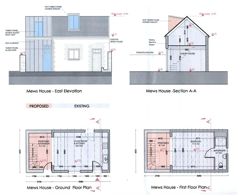 Plan Section Elevation Examples : House section drawing at getdrawings free for