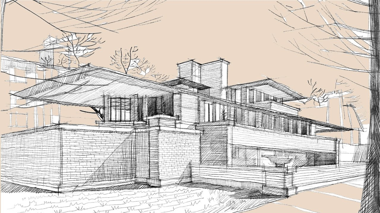 Line Drawing Of Your House : House sketch drawing at getdrawings free for personal use