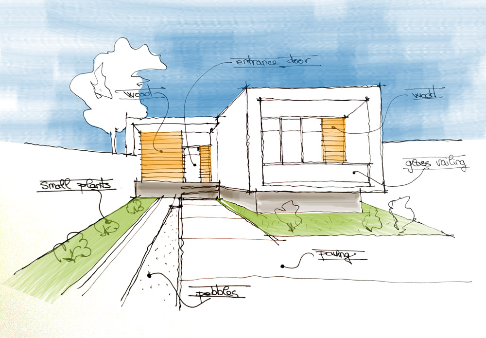 House Sketch Drawing at GetDrawings.com | Free for personal use ...