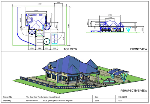 500x348 Autocad 3d House Modeling Tutorial Course Using Autocad 2015