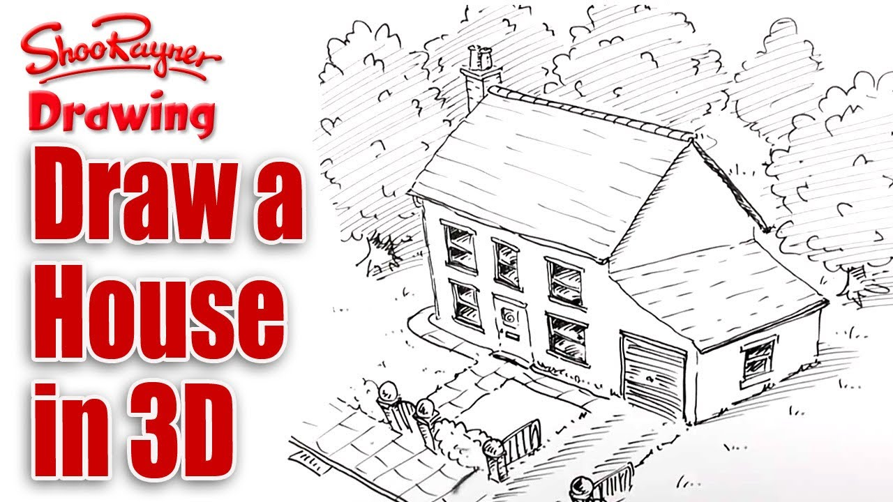 Lovely 1280x720 How To Draw A House In 3d
