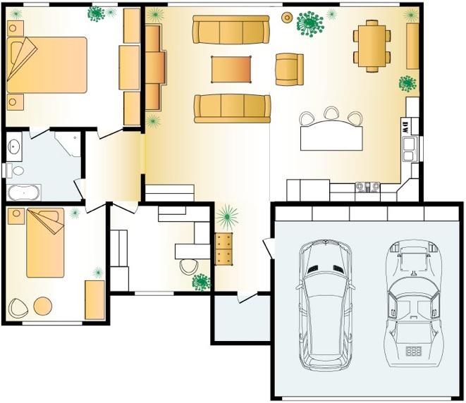 661x572 Of 2d Floor Layout In Interior Design