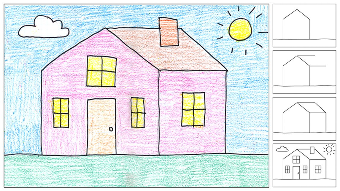 1146x644 How To Draw A House Art Projects For Kids